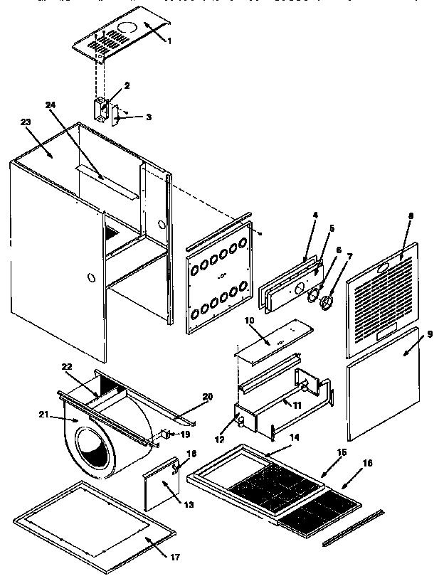 Icp model GNJ075N12A1 furnace/heater, gas genuine parts