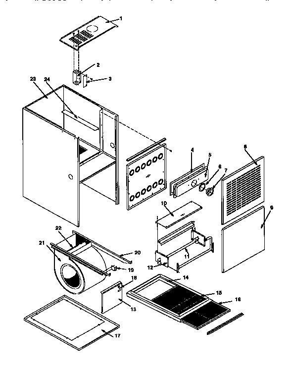 Icp model NTC5100BJC1 furnace/heater, gas genuine parts