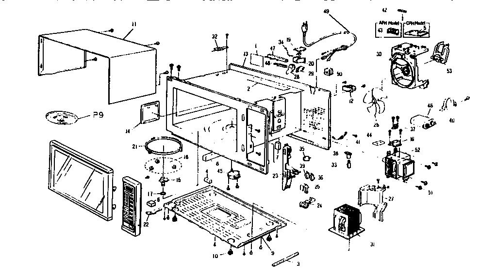 Panasonic model NN6555A countertop microwave genuine parts