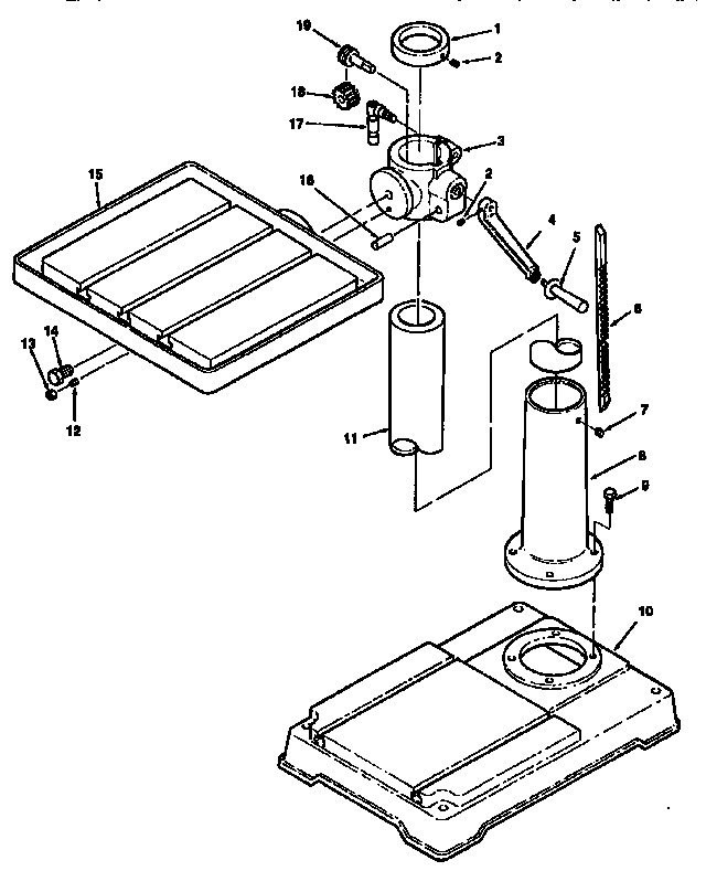 Craftsman model 113213213 drill press genuine parts