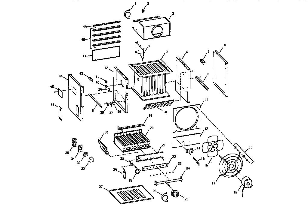 Empire model UH-1150 air handler-auxiliary heater kit