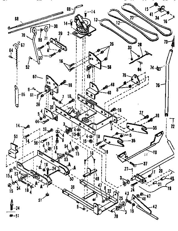 Craftsman model 842240561 snow thrower attachment genuine
