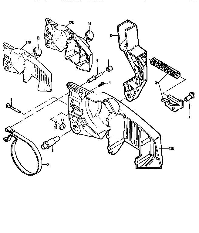Mcculloch model PRO MAC 320 600021-03 chainsaw genuine parts