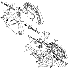 Eager Beaver Chainsaw Parts Diagram 2006 Chevy Silverado 1500 Radio Wiring Mcculloch Model 2 1 600132 03 Electric Handle Assemb