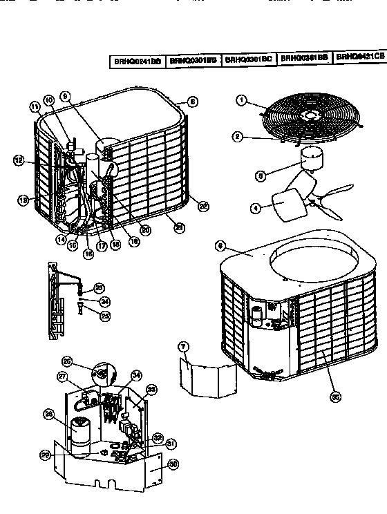 Coleman-Evcon model BRHQ0421CB air-conditioner/heat pump