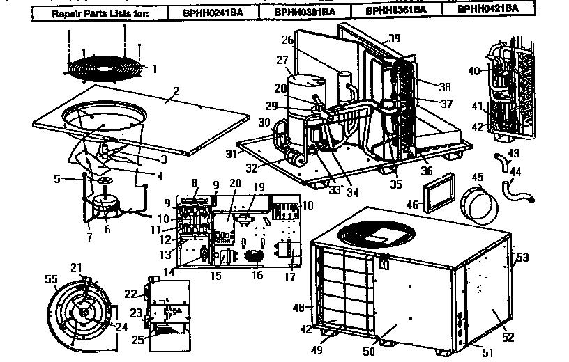 Coleman-Evcon model BPHH0361BA air-conditioner/heat pump
