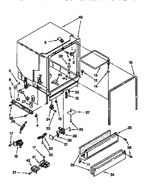 Kenmore model 66515625691 dishwasher genuine parts