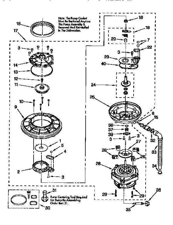 Kenmore model 66515825691 dishwasher genuine parts