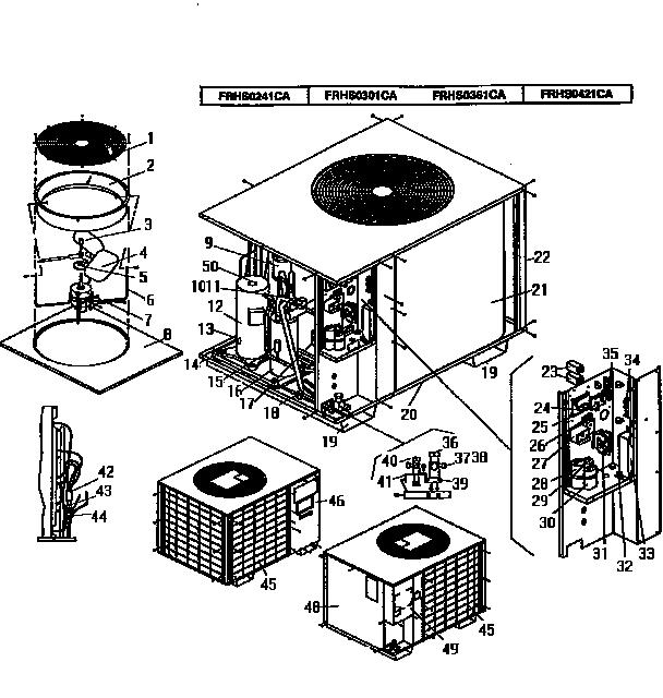 Coleman-Evcon model FRHS0361CA air-conditioner/heat pump