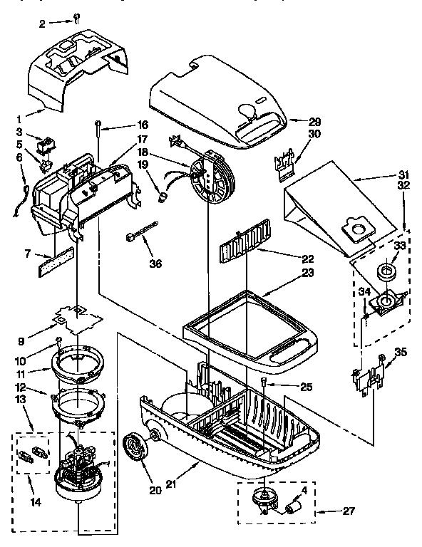 Kenmore model 11626085690C vacuum, canister genuine parts