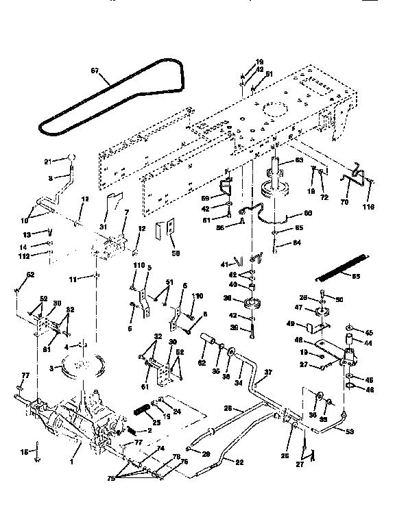 Craftsman model 917256810 lawn, tractor genuine parts