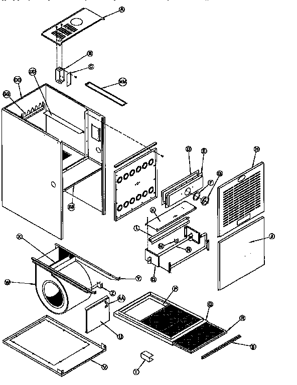 Icp model NTC5125BKD1 furnace/heater, gas genuine parts