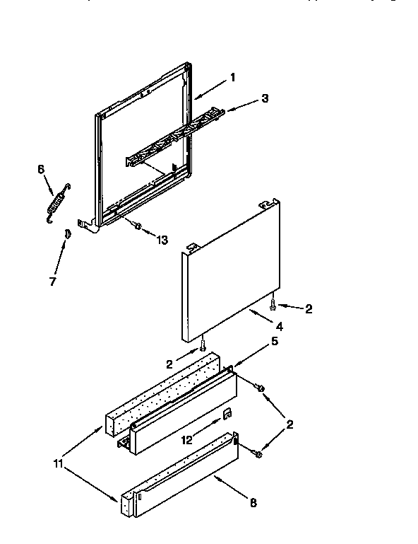 Kitchenaid model KUDV24SEBL0 dishwasher genuine parts