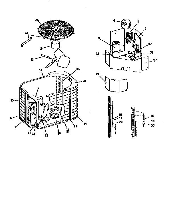 York model E1RA050S06A air-conditioner/heat pump(outside