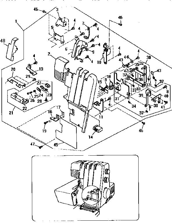Kenmore model 38516644690 overlock sewing machines genuine