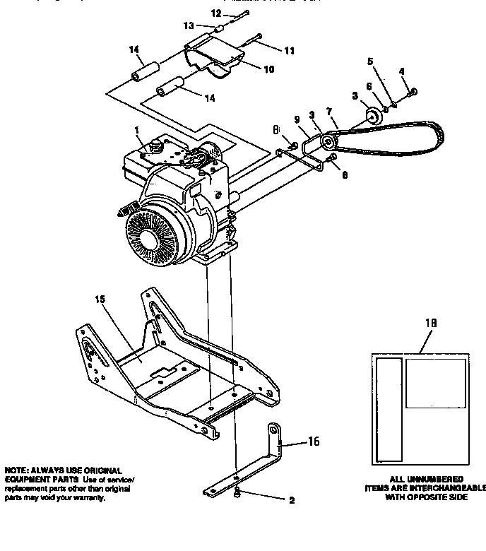 Craftsman model 536797580 edger genuine parts