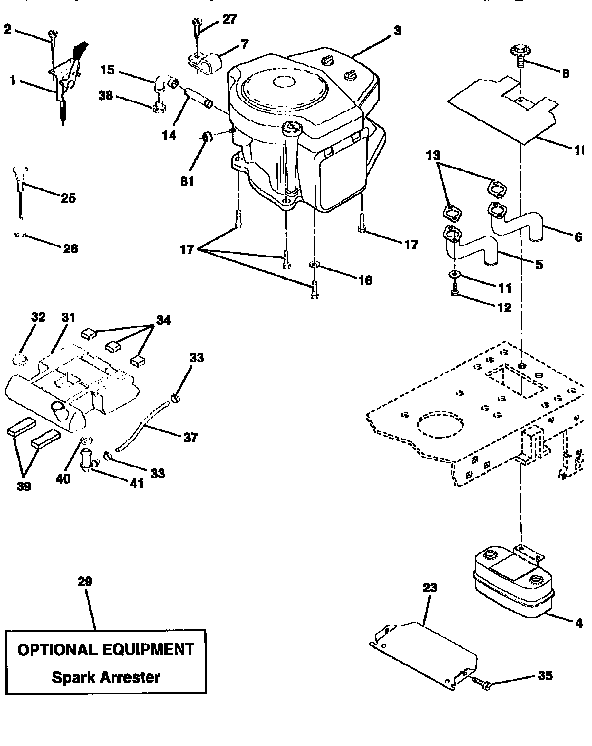 Diagram Of Engine For Briggs And Stratton Model 42a707