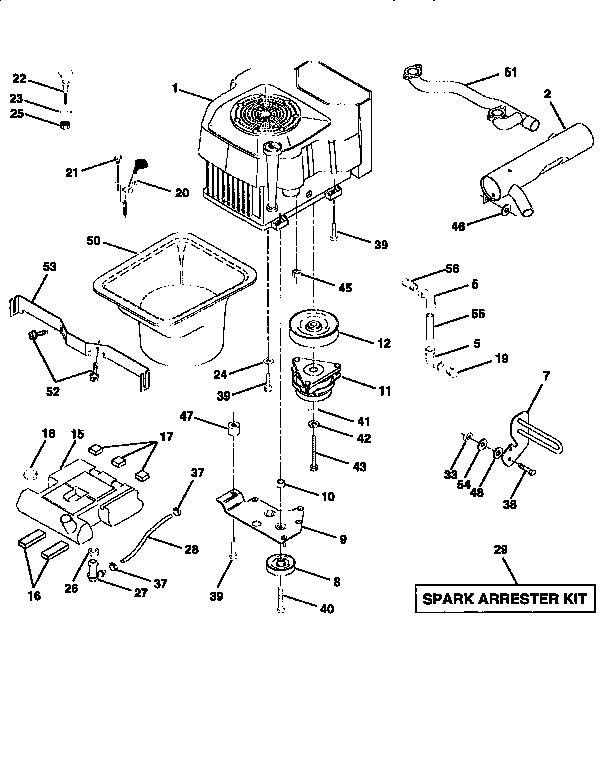 Craftsman model 917251493 lawn, tractor genuine parts