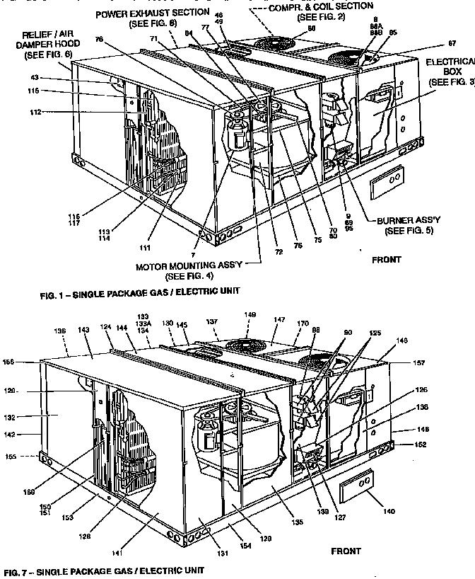 York model D2CG180N32025M package units(both units