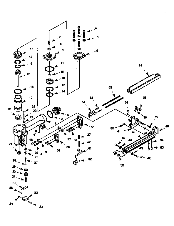Craftsman model 351183060 stapler genuine parts