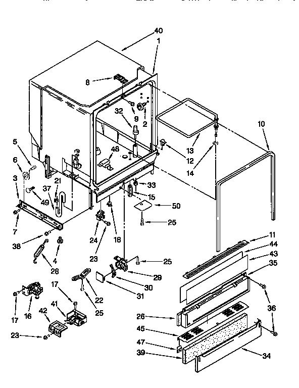 Kenmore model 66515761690 dishwasher genuine parts