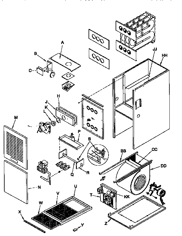 Arcoaire model GUJ050N12B1 furnace/heater, gas genuine parts