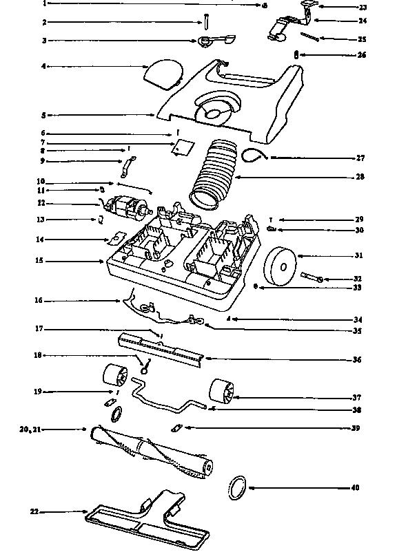 Eureka model 6426ATV vacuum, upright genuine parts