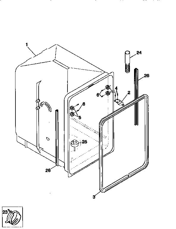 Kenmore model 58717345691 dishwasher genuine parts