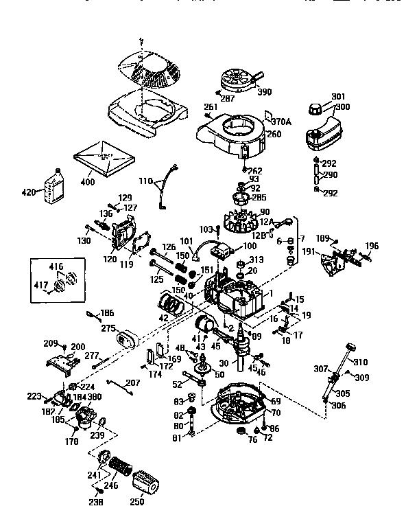 Tecumseh model TVS115-57905D engine genuine parts