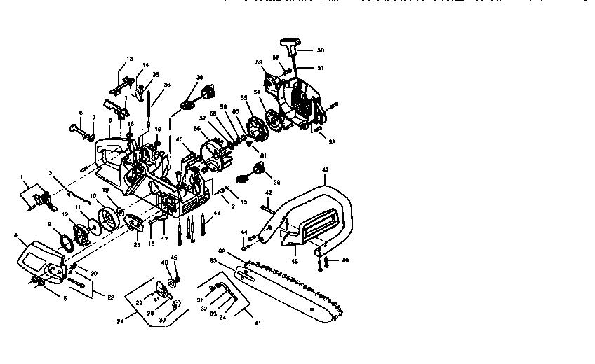 Craftsman model 358352180 chainsaw, gas genuine parts