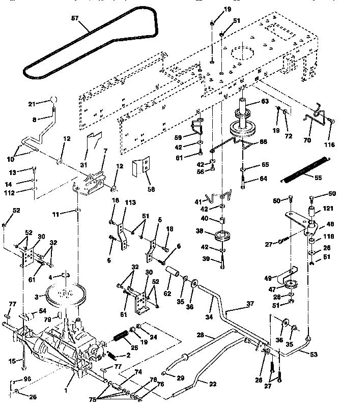 Craftsman model 917258510 lawn, tractor genuine parts