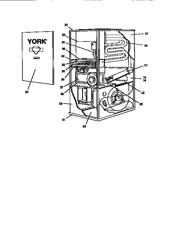 York model P3URD20N09501 furnaces/heaters genuine parts