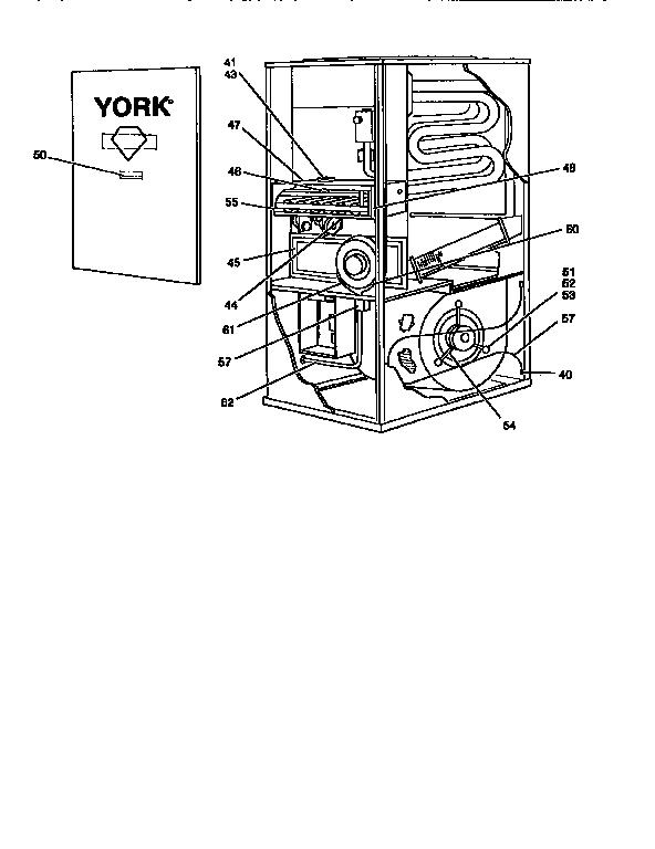York Natural Gas Furnace Parts Diagram