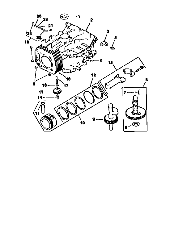 Kohler model CV15S-41526 engine genuine parts