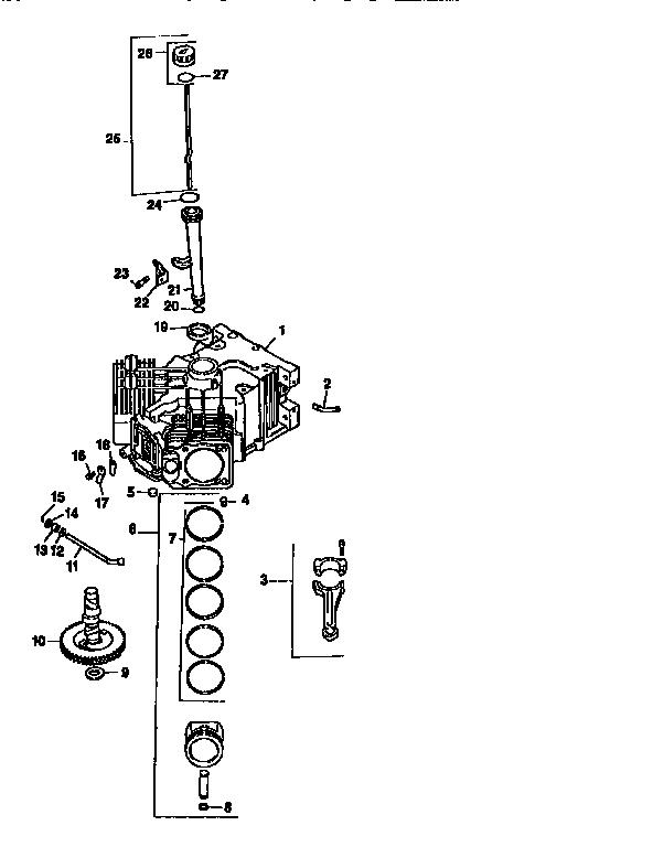 Kohler model CV22S-67515 engine genuine parts