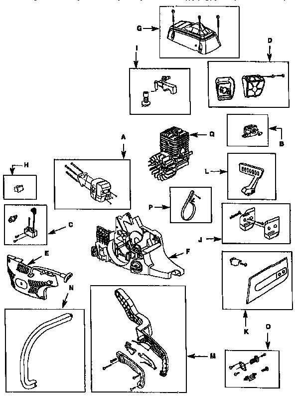 Homelite model UT10772 chainsaw, gas genuine parts