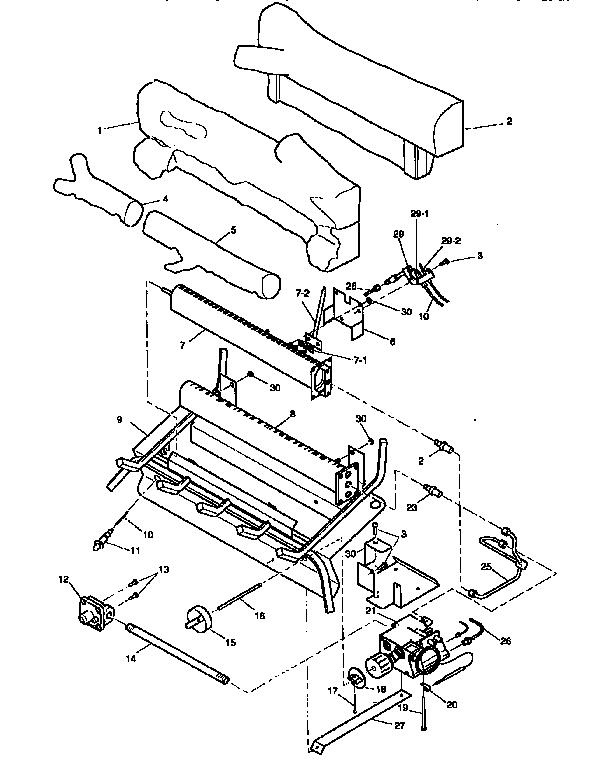 Desa model CG3324PT log, gas fireplace genuine parts