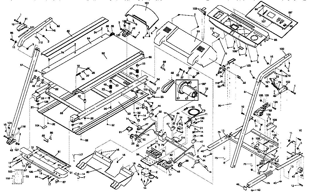 Proform model 831297660 treadmill genuine parts