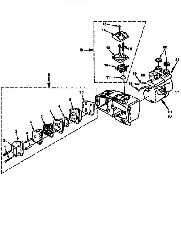 Homelite model 240-UT10625-A,B,C,D chainsaw, gas genuine parts