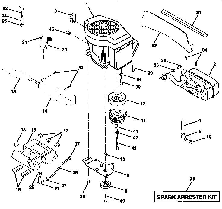 Craftsman model 917258870 lawn, tractor genuine parts
