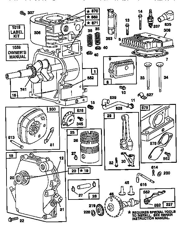 Briggs-Stratton model 133202-0156-01 engine genuine parts