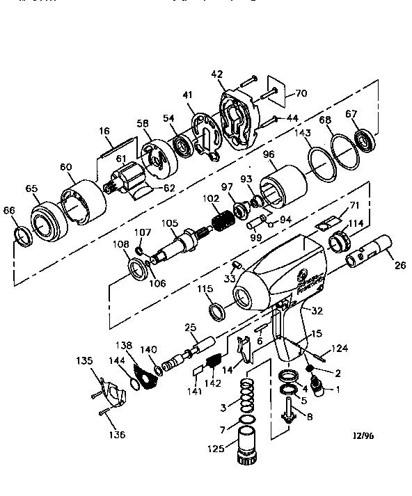 Chicago-Pneumatic model CP-747 impact tool genuine parts