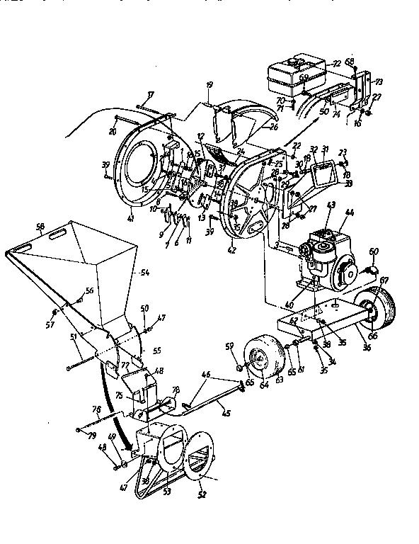 Craftsman model 247795861 chipper shredder/vacuum, gas