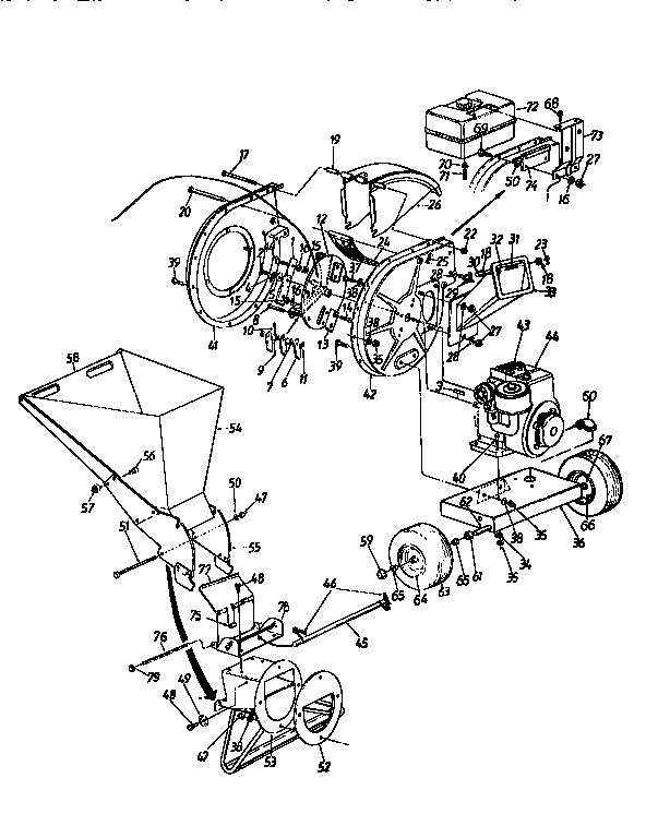 Craftsman model 247795860 chipper shredder/vacuum, gas