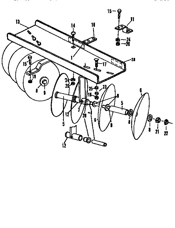 Craftsman model 757242341 tractor attachments genuine parts