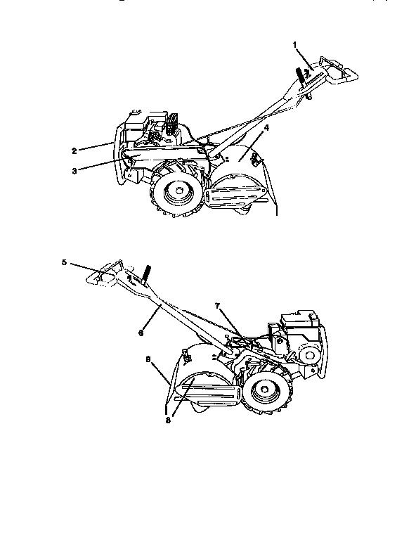 Craftsman model 917293650 rear tine, gas tiller genuine parts
