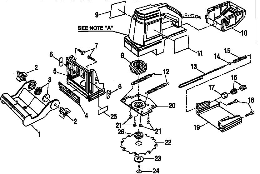 Craftsman model 315175010 plate joiner genuine parts