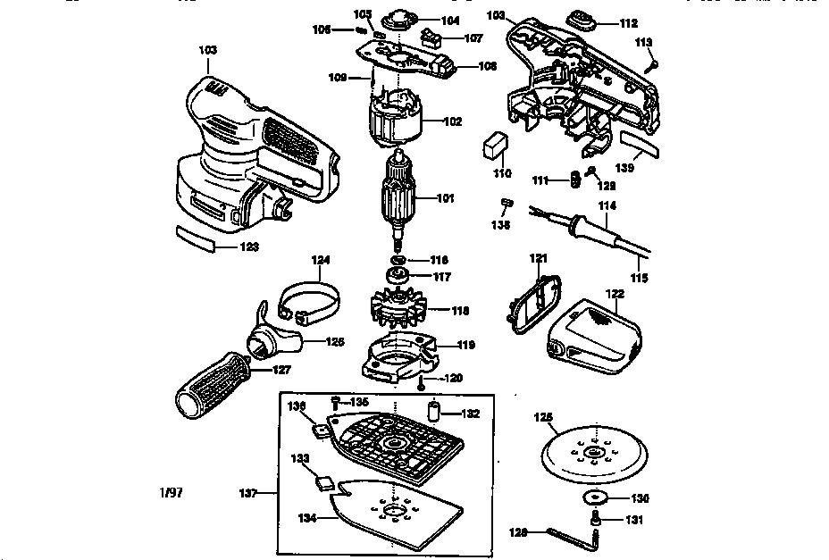 Craftsman model 900116660 sander genuine parts