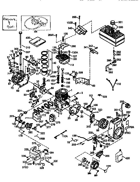 Tecumseh model HMSK100-159307V engine genuine parts