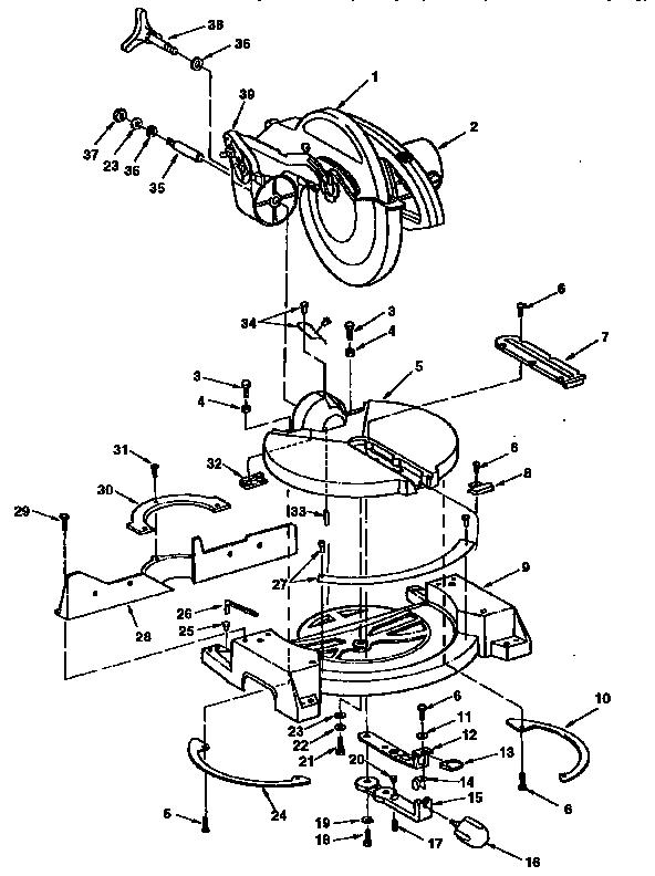 Craftsman model 113235140 miter saw genuine parts